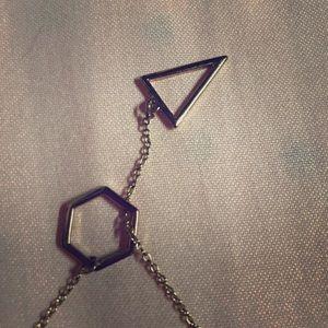 Adjustable geometric necklace
